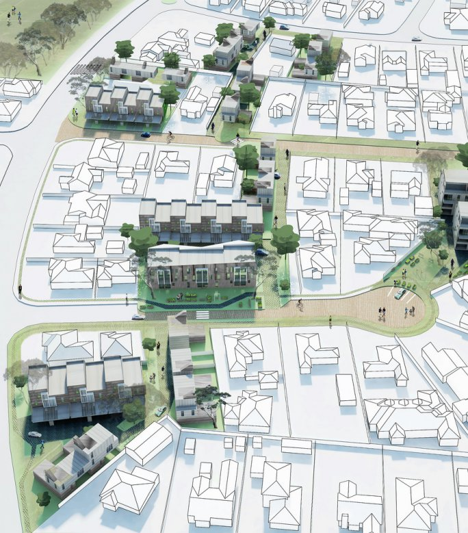 Processes for developing affordable and sustainable medium-density housing models for greyfield precincts