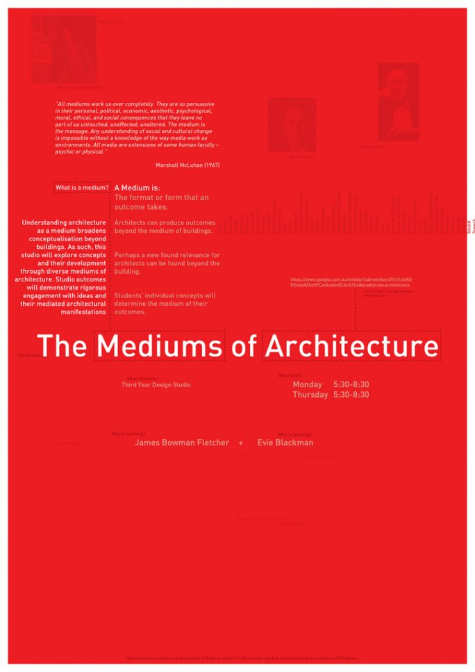 The Mediums of Architecture